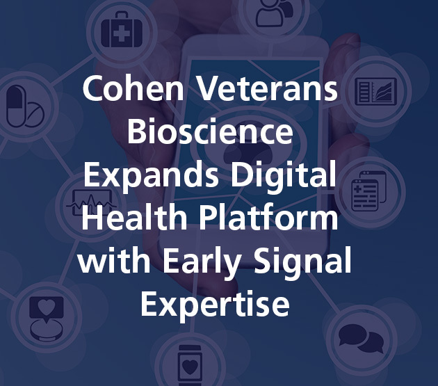 Cohen Veterans Bioscience Expands Digital Health Platform with Early Signal Expertise
